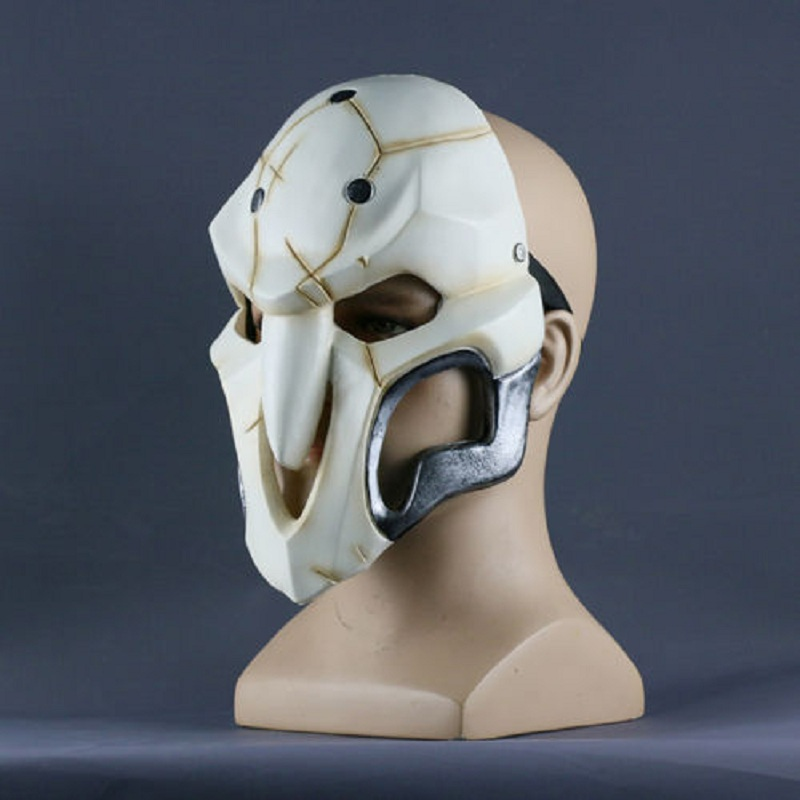 2016 Over watch Game Mask Cosplay Reaper Mask Helmet Halloween Reaper Party Mask (2)