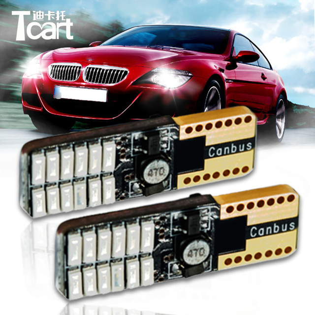 Tcart 50pcs Lot T10 Led Nonpolar 9 30v 10w Canbus W5w 194 Auto Clearance Light Reading Interior Width