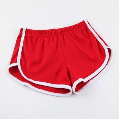 Карамельный цвет ретро пикантные стрейч шорты для женщин женские 13 цветов повседневные свободные пляжные Hotpants - Цвет: Красный