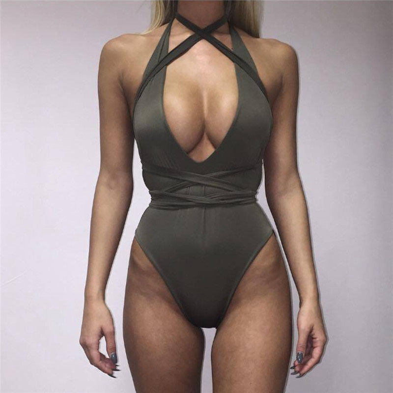 Body Suits Swimming 2018 Sexy Bodysuit Women Bathing Suit High Waist Swimsuit Micro Biquini Diy Long Strap Bandage Swimwear Summer Sexy Beach Wear Suitable For Men And Women Of All Ages In All Seasons