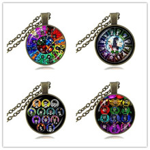 Homestuck Necklace God Wheel Game Pendant Zodiac Jewelry 12 Trolls Mspaint Adventures Glass Cabochon Choker Doctor Who Jewellery