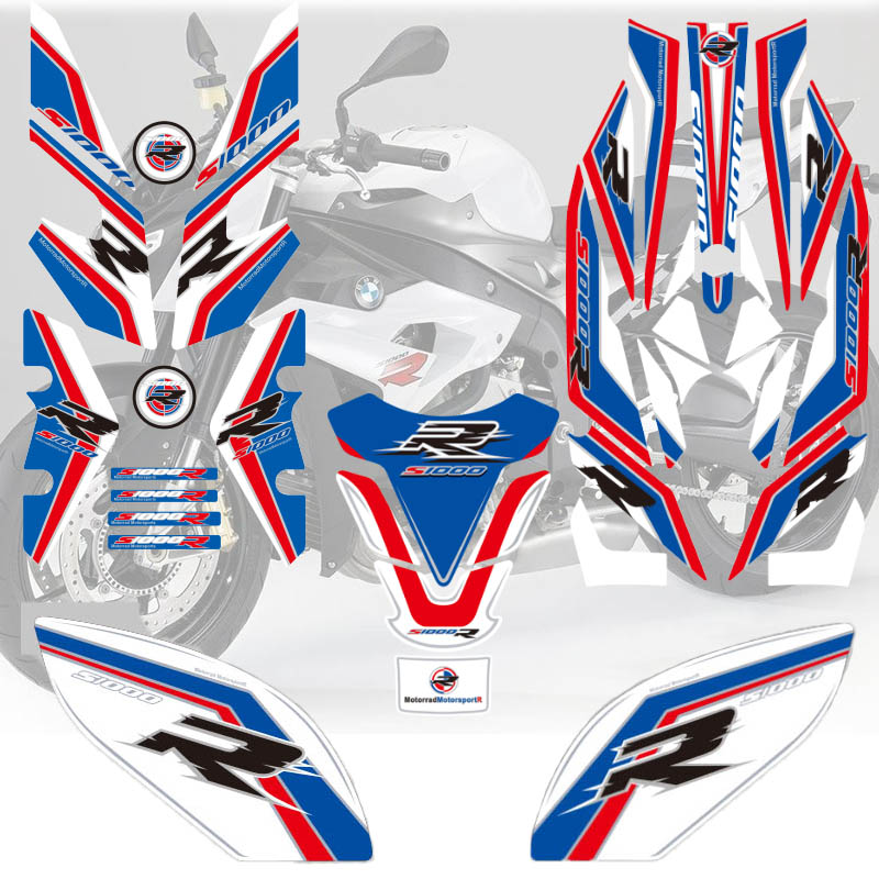 Hot Sell Motorycle Reflective 3D Gel For BMW S1000R 2017 Front Rear Tank Sticker Fairing Number Board Protector