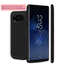 OYIXINGER High Capacity Backup External Power Bank Battery Case For Samsung Galaxy S8 S8+ Plus Charger Case 2A Smart Fast Charge
