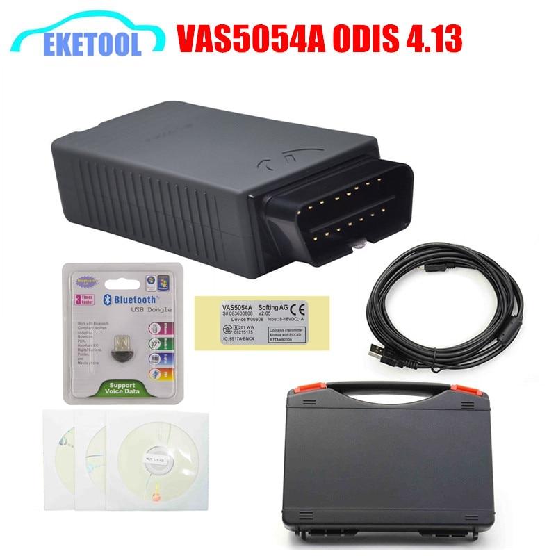 Цена за VAS5054 ODIS V4.13 поддерживает протоколы UDS VAS5054a работает VW/Skoda/Seat/Бентли VAS 5054a Bluetooth Code Reader черный ящик