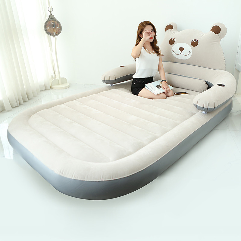 Folding Cartoon Bed With Backrest Totoro Bed Beanbag Cama Mattresses Inflatable Soft Bed Childrens Furniture Bedroom FurnitureFolding Cartoon Bed With Backrest Totoro Bed Beanbag Cama Mattresses Inflatable Soft Bed Childrens Furniture Bedroom Furniture