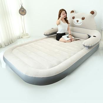 Składany Cartoon łóżko z oparciem Totoro łóżko Beanbag Cama materace nadmuchiwane miękkie łóżko dla dzieci meble sypialniane tanie i dobre opinie Meble do sypialni Domu łóżko Meble do domu Bedroom Furniture China Cartoon Bed 150CM*230CM*23CM Flocking Folding bear