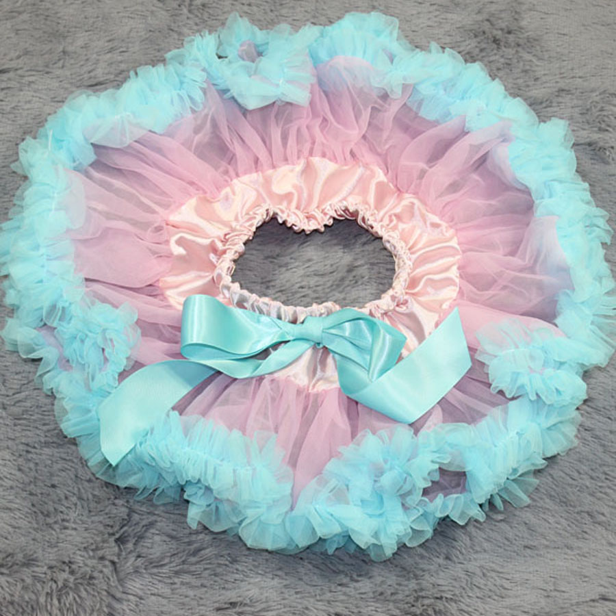 Юбка-пачка для малышей шифоновая юбка-американка одежда для малышей Летняя одежда юбки-пачки для малышей на заказ - Цвет: sky blue ruffled