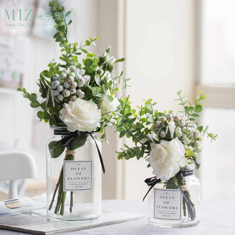 Miz Artificial Flowers For Wedding Vases Home Decor Flower Bouquet With Vase