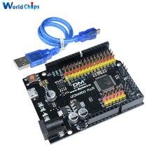 Para leonardo r3 plus placa ch340 ch340g atmega32u4 ATmega32U4-AU módulo de placa de microcontrolador para arduino compatível com cabo