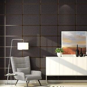 Image 2 - Nowoczesny wzór geometryczny marmurowa krata 3D stereoskopowa tapeta z tkaniny salon tło pod telewizor rolki tapety