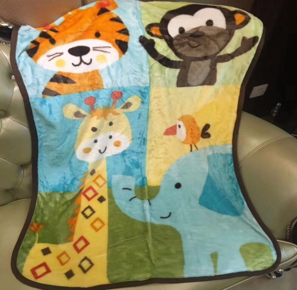 New Cartoon Warm Mini Animal Blanket Soft Blanket on Bed Coral Fleece Warm Throw Blankets Travel Blanket for Kids Baby 76x115cm