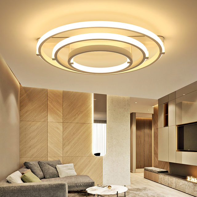 flush mount modern led ceiling lights bedroom livingroom acrylic lamp deckenleuchten luminarias plafonnier design kitchen light - Flush Kitchen Lighting