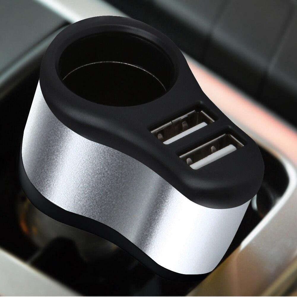 2 em 1 Carregador de Carro Dual USB + Isqueiro Adaptador de Carregador de  carro Carregador de Telefone Móvel 5 V DC 1A 2.1A para o iphone SAMSUNG 80ac5381b444f
