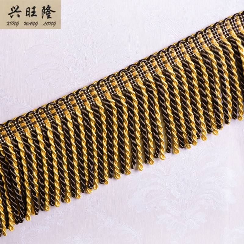 XWL 12M Lot 11cm Wide Rayon Twisted Trimming Rope Lines DIY For Curtain Sofa Edge Decorative