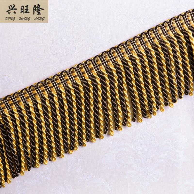 Metallic Gold Twisted  Fringe /& Decorative Dress Furnishing-Trim-10cm