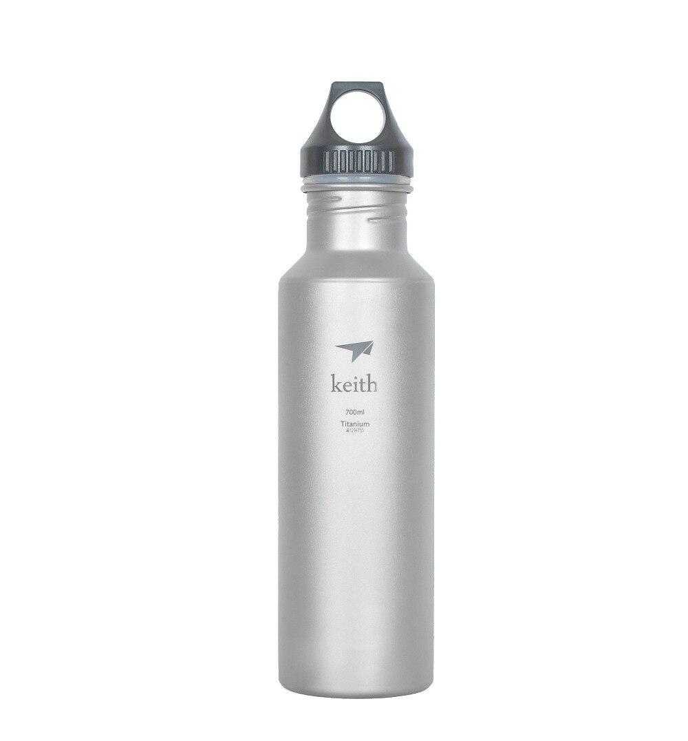 цена на Keith Ti3052 Titanium Water Cycling Bottle Outdoor Camping Sport Bottles 127g 700ml Ti52