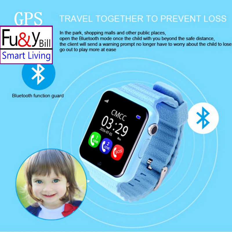 GPS smart watch kids watch V7k with camera/facebook SOS Call Location DevicerTracker for Kid Safe Anti-Lost Monitor wireless service call bell system popular in restaurant ce passed 433 92mhz full equipment watch pager 1 watch 7 call button