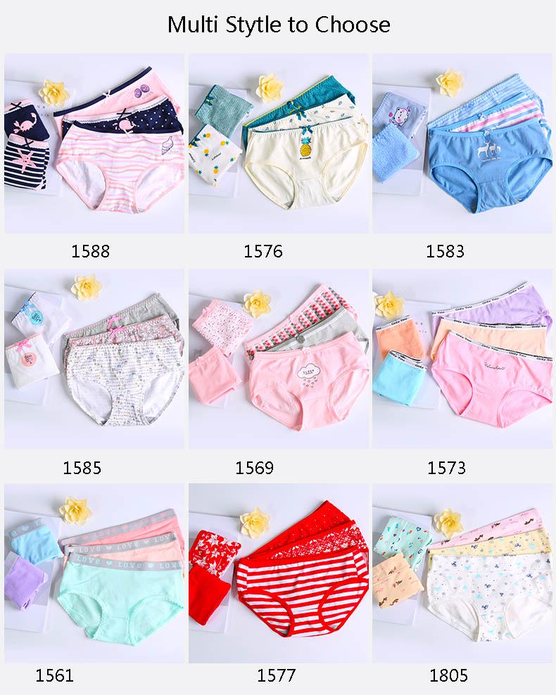 (5PCS/lot) Cute & Sexy Cotton Panties