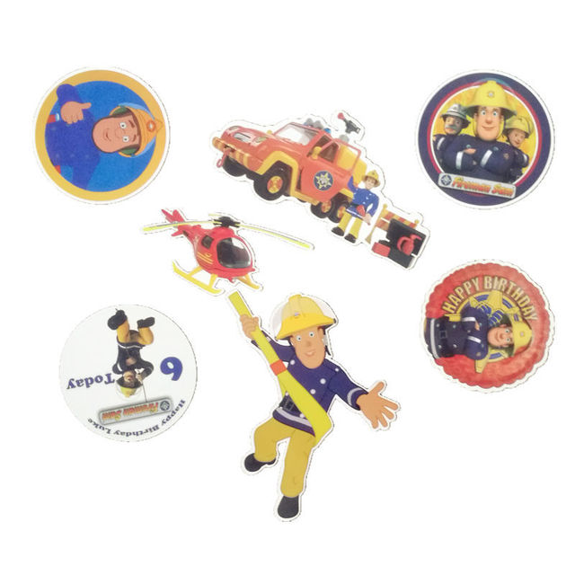 11pcs/set of Fireman Sam Stickers Skateboard bike on Motorcycle Suitcase Home Decor Phone Laptop Covers DIY Y181018