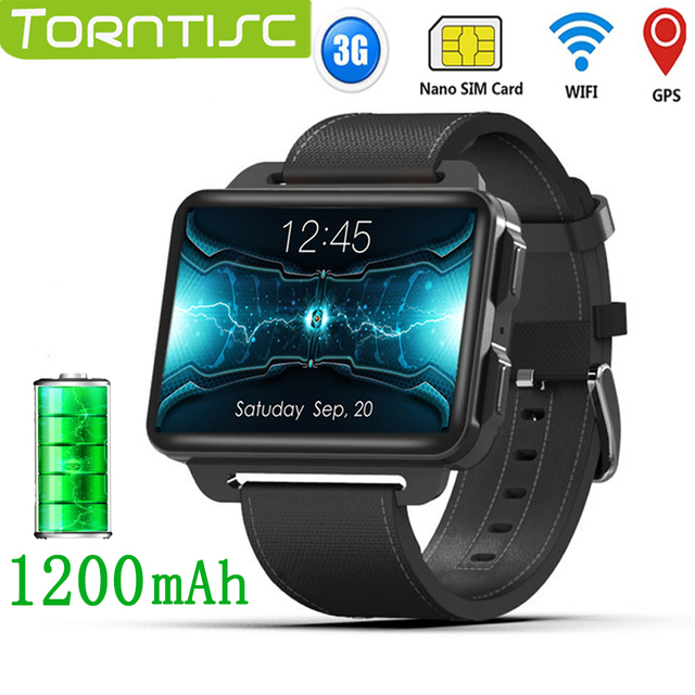 Torntisc LEM4 PRO 2.2 inch 3G Smart Watch Android Support SIM Card 1.3MP Camera Heart Rate 1200mah Battery Smartwatch For Men