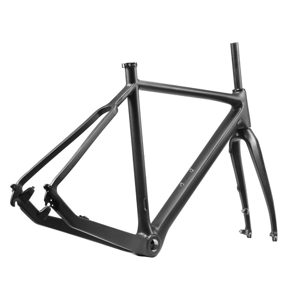 2018 Hot Carbon cyclocross disco de freno bicicleta UD camino del ...