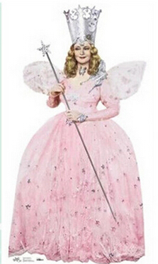 Made Dress Witch Costume Womens Glinda Fairy Godmother Cosplay Halloween Princess Cosplay