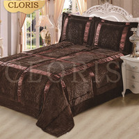 CLORIS Moscow Hot Sale 3 Pieces/Set Cotton Blanket Quilted Bedspread Bed Cover Bedspread Coverlet Various Color For Wedding Gift