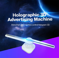 Wifi 3D Holographische Display LED Fan Tragbare Hologramm Player Projektor Werbung 3D Display T1 T2 T3 T4 42 cm/ 43 cm/100 cm/65 cm