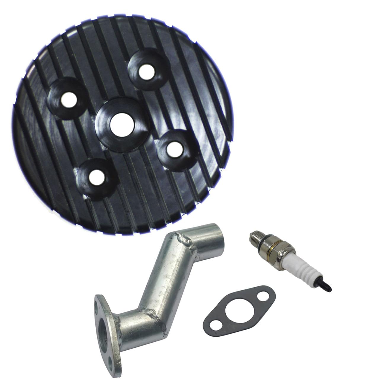 CNC Cylinder Head & Intake Manifold & Spark Plug For 80cc Motorized Bike