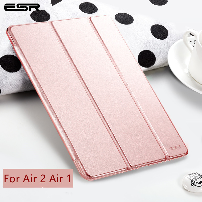 For iPad Air 2 Air 1 Case Magnetic Slim PU Leather Smart Cover for Apple iPad Air Case Sturdy Stand Auto Sleep / Wake for ipad 6 ocube tri fold ultra slim tpu silicon back folio stand holder pu leather case cover for apple ipad 6 ipad air 2 9 7 tablet