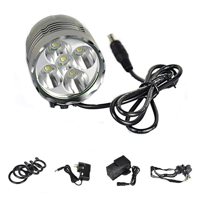 ФОТО Aluminum 5T6 LED Head Lamp Light Torch XM-L T6 LED Headlamp 7000 Lumens Outdoor LED Bike Bicycle Light + Free Shipping