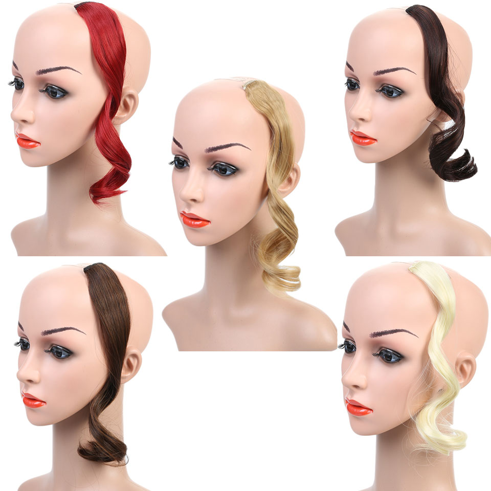 Natural Fake Hair Pieces Hairstyles Heat Resistant Synthetic