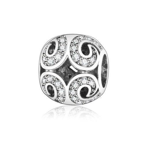 Подходит для оригинальных браслетов Pandora DIY Ювелирные изделия Осенняя коллекция ромашки ажурные шармы 925 пробы серебряные бусины в виде цветка - Цвет: A18