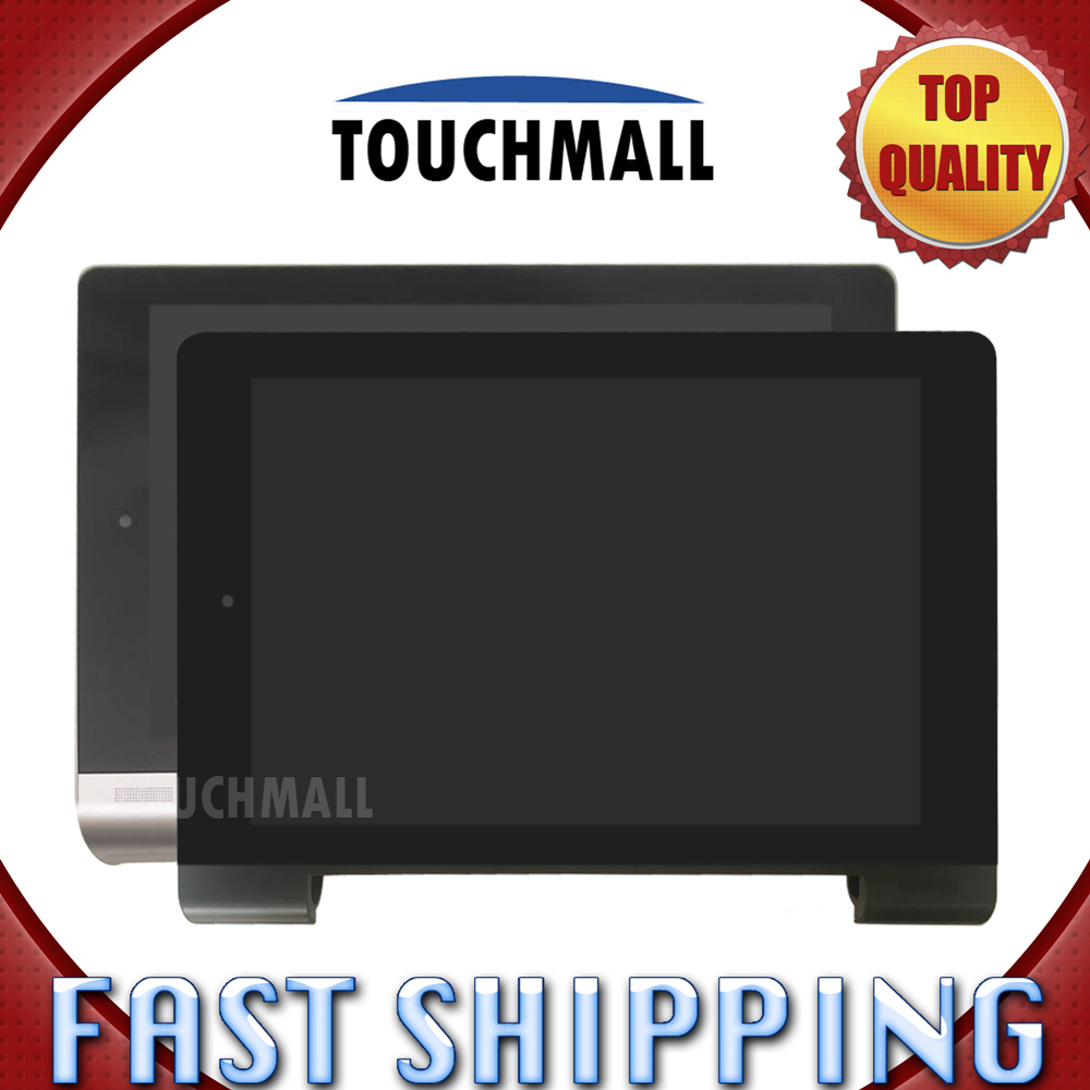 For New LCD Display Touch Screen with Black Silver Frame Assembly Replacement Lenovo Yoga Tablet 8 B6000 8-inch Free Shipping vibe x2 lcd display touch screen panel with frame digitizer accessories for lenovo vibe x2 smartphone white free shipping track