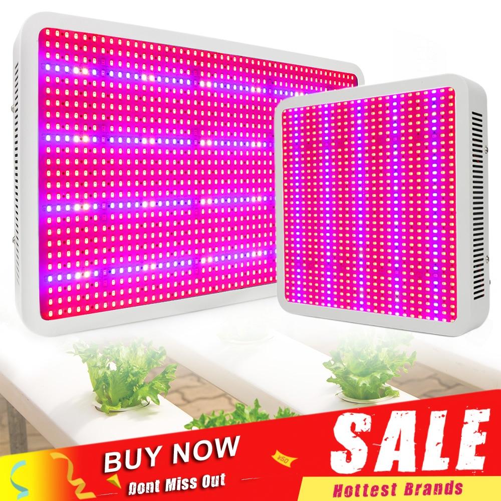 400 W 600 W 800 W 1200 W 1600 W LED crecer luz espectro completo planta de interior hidropónico lámpara AC85-265V verduras y floración de alto rendimiento