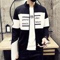 Frete grátis 2016 new hot único produto masculino Hoodies Camisolas cardigan Primavera e No Outono versão Coreana dos homens Casaco Fino