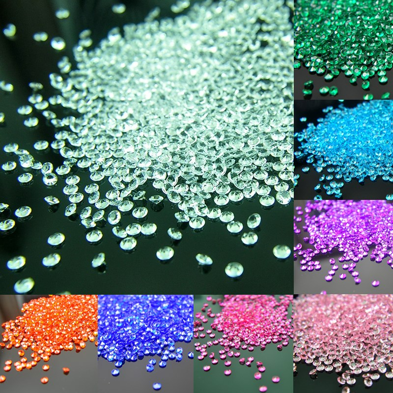 2000pcs 4.5mm Scatter Table Crystals Diamonds Acrylic Confetti Wedding Birthday Graduation Party Decoration Festive Supplies S
