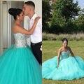 Vestido de cristal vestidos quinceanera vestido de bola azul quinceanera vestidos vestidos de 15 años sweet 16 vestidos formais baratos