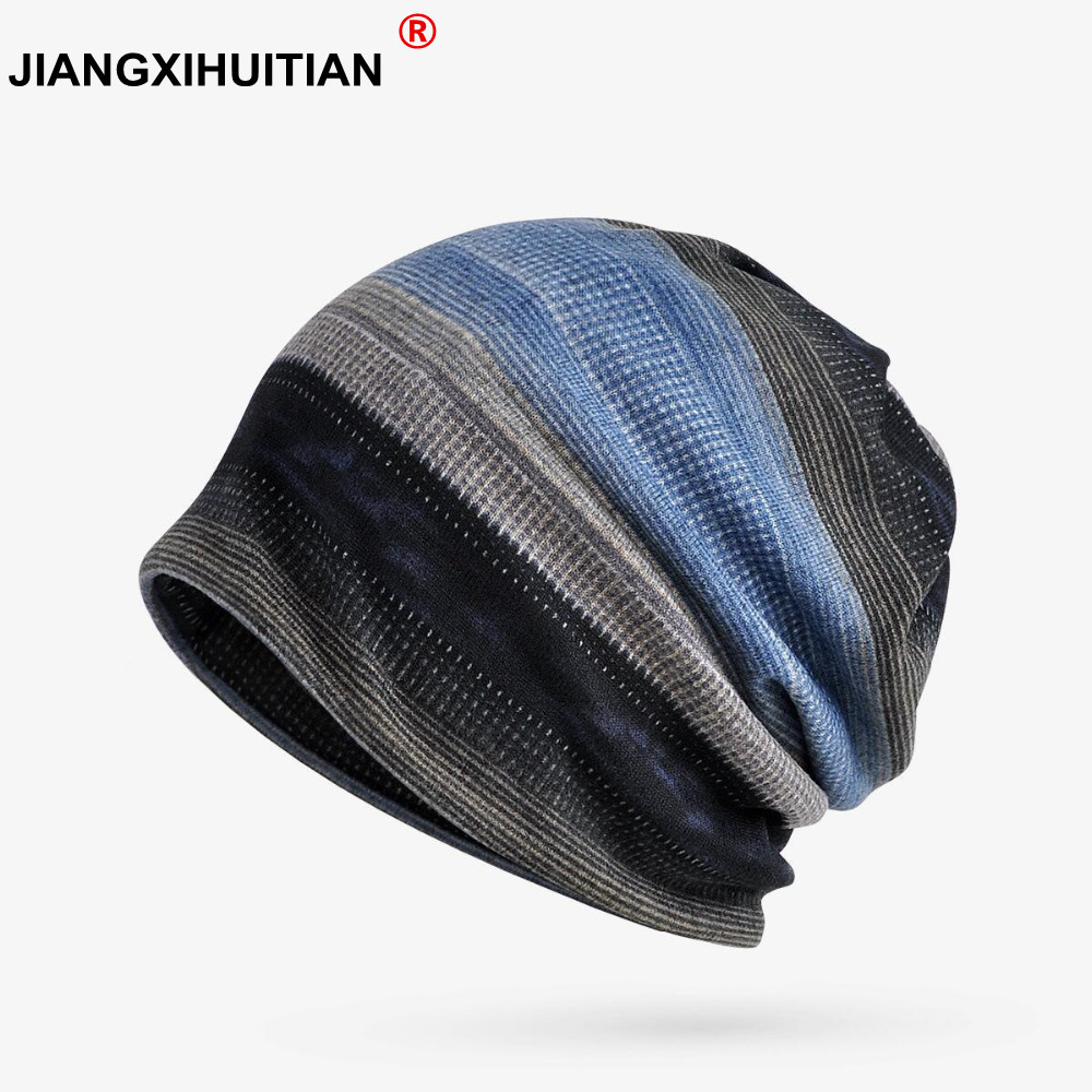 Warm Winter Hat Women Men Knitted Cap Hat Female Male Winter Caps Men's Knit Hats   Skullies     Beanies   Plus Velvet Warm Ski Hat