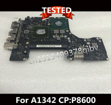 Motherboard 13″ Laptop For Macbook A1342 MC516 K87 P8600 2.4GHz Logic Board 820-2877-B 100% Working