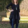 6 Cores Camisa Longa das Mulheres Bohemian Vestido Solto de Algodão Assimétrico Vestidos Vestidos Bodycon Plus Size