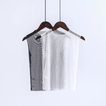 Buenos Ninos sexy  black/white transparent mesh tops o-neck sleeveless casual tees 40 buenos ninos красная роза s