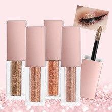 8Colors Eyeshadow Glitter Metallic Nude Smoky Primer Eye Shadow Waterproof Natural Easy to Wear Liquid Eyeshadow Makeup Palette цена