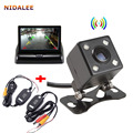 Wireless Kit Night Vision Car Camera Waterproof Parking line 140 Degree Vehicle Backup Rear Cameras with 4.3 inch Car Monitor