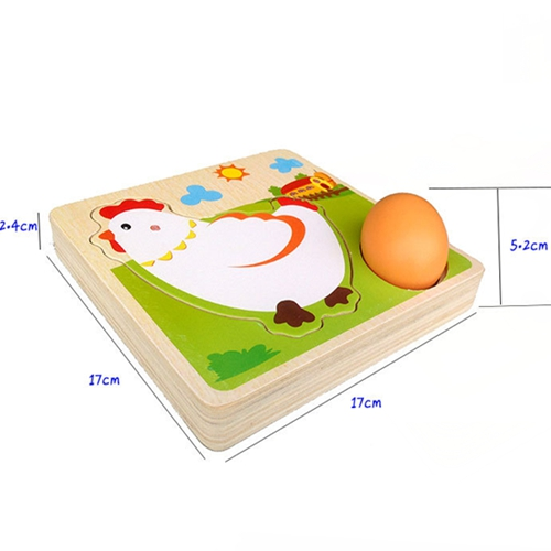 3D wood Puzzle Animal Transport Multi imensional Jigsaw multilayer cartoon puzzle Educational Montessori Toy for Child in Puzzles from Toys Hobbies