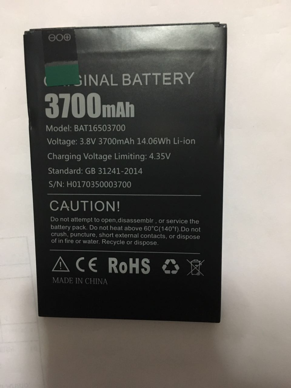 for <font><b>Doogee</b></font> <font><b>X7</b></font> 3700mAh New Back up <font><b>Batteries</b></font> Replacement For <font><b>Doogee</b></font> <font><b>X7</b></font> Pro Smart Cell Mobile Phone li-ion <font><b>Battery</b></font> +In Stock image