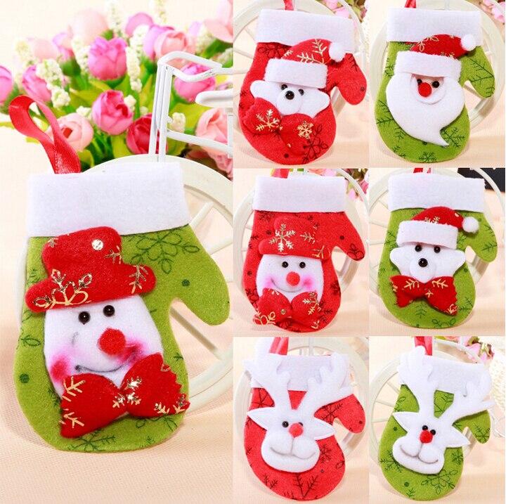 tienda online unidslote para rboles de navidad ornamentos del rbol de navidad medias y guantes adornos gota del envo eh aliexpress