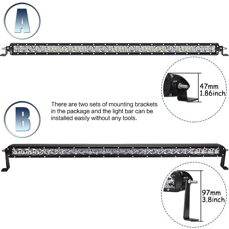 32 ''pouces 150 W OffRoad LED Light Bar Avec Cree LED Puces Travail lampe 12 V 24 V IP68 12000LM pour 4WD Offroad Camion Jeep UAZ SUV ATV