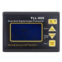 Оригинальный Высокая точность цифровой лазерный измеритель уровня tll 90s Инклинометр ЖК дисплей Дисплей ручной двухосевой Транспортиры инс
