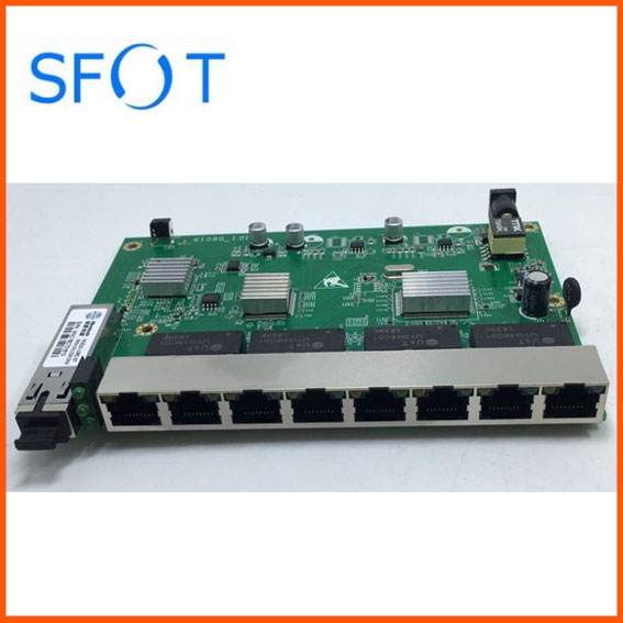 2pcs PCB boards, PD with 8 ports GE reverse POE optical network EPON ONU, 8 ports 1000MB PCB boards